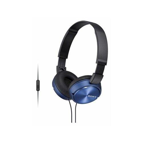 Наушники Sony MDR-ZX310AP, синий наушники sony mdr zx310ap черный