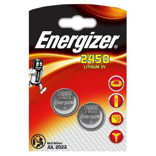 Батарейка Energizer CR2450, 2 шт.