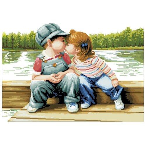 Купить Белоснежка Набор для вышивания Поцелуй у реки 66 x 50 см (7090-3D), Наборы для вышивания
