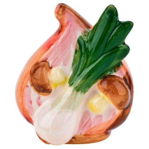 Подставка для зубочисток ELFF decor Лук репчатый розовый/зеленый открывалка галстук elff ceramics