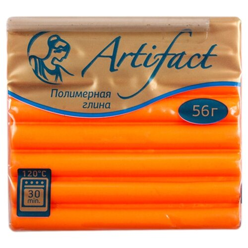 Полимерная глина Artifact Neon оранжевая (323), 56 г