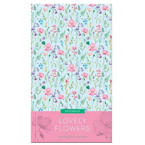 Купить Телефонная книга OfficeSpace Цветы. Lovely flowers, А5, 80 листов, розовый/голубой, Ежедневники, записные книжки