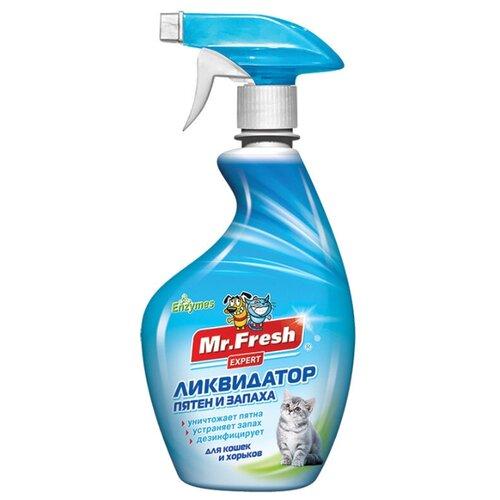 Спрей Mr. Fresh ликвидатор пятен и запаха для кошек и хорьков 500 млКосметика и гигиена<br>