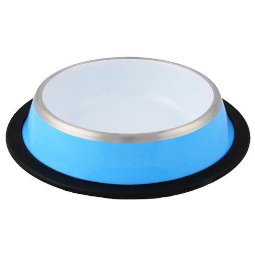 Миска Ankur с резиновым основанием 250 мл голубой/белый