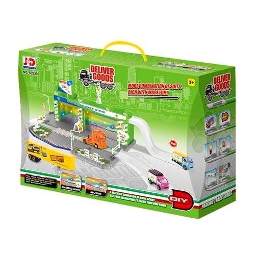 JD Chjiahuida Toys Deliver Goods 59929 зеленый/голубой/серый jd коллекция желтовато бурый 39