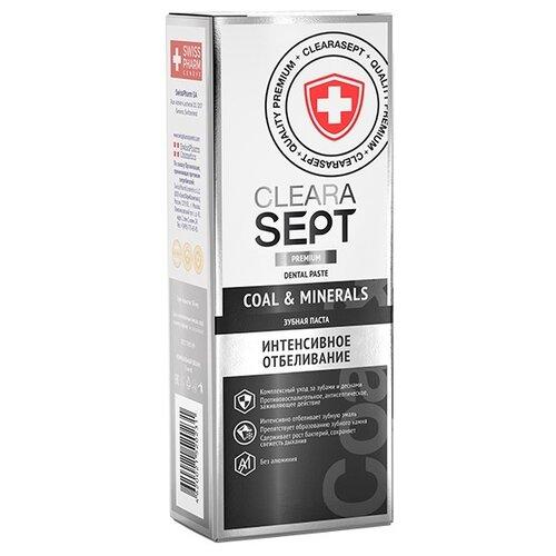 Зубная паста ClearaSept Coal & Minerals Интенсивное отбеливание, 75 мл зубная паста rocs medical minerals