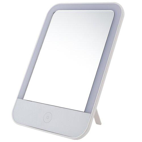 Зеркало косметическое настольное Lucia EL400 с подсветкой белый