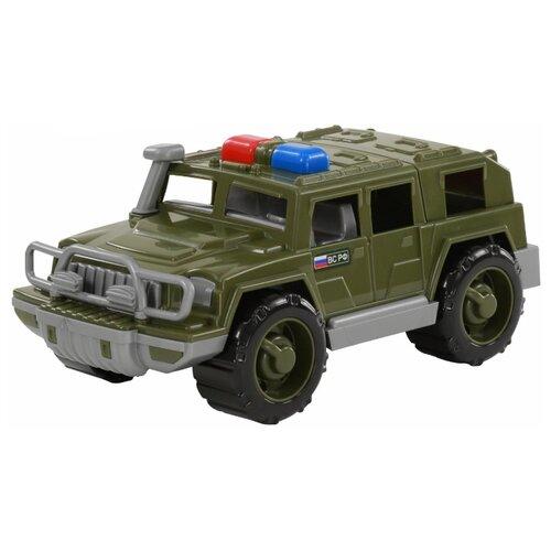 Купить Внедорожник Полесье патрульный Защитник РФ (69276) 31 см зеленый, Машинки и техника