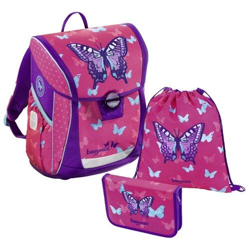 цена на Step By Step Ранец BaggyMax Fabby Sweet Butterfly 3 предмета (430085), розовый