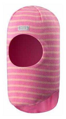 Шапка-шлем Lassie размер 50, розовый/полоска