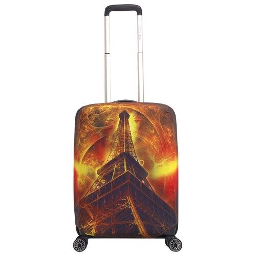 Чехол для чемодана METTLE Эйфель S, черный/красный/оранжевый/серыйЧемоданы<br>