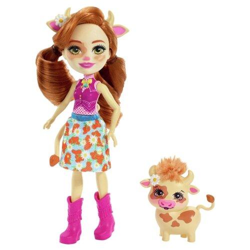 Купить Кукла Enchantimals Кейли Коровка с питомцем, 15 см, FXM77, Куклы и пупсы