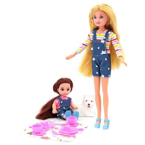 Купить Кукла Funky Toys Мила 23 см с куклой Вики 12 см с собачкой и набором для пикника, 70006, Куклы и пупсы