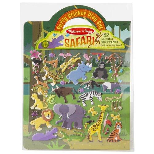 Купить Книжка с наклейками Сафари (9106), Melissa & Doug, Книжки с наклейками