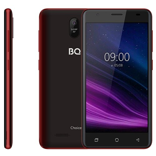 Смартфон BQ 5016G Choice, красно-черный смартфон bq 5045l wallet черный