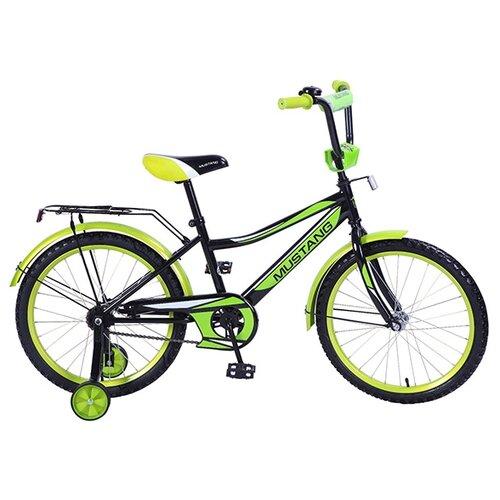 цена Детский велосипед MUSTANG ST20010-Z черный с зеленым (требует финальной сборки) онлайн в 2017 году