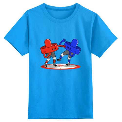 Футболка Printio размер 5XS, голубой