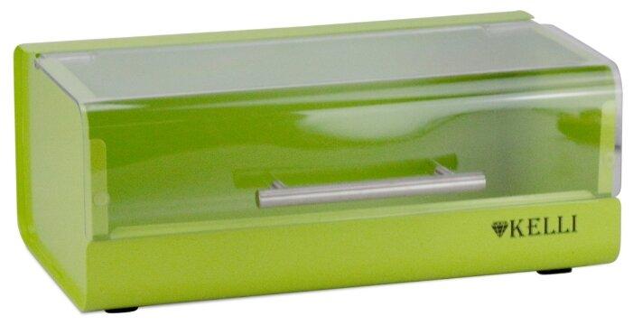 Хлебница Kelli металлическая KL-2140 салатовый