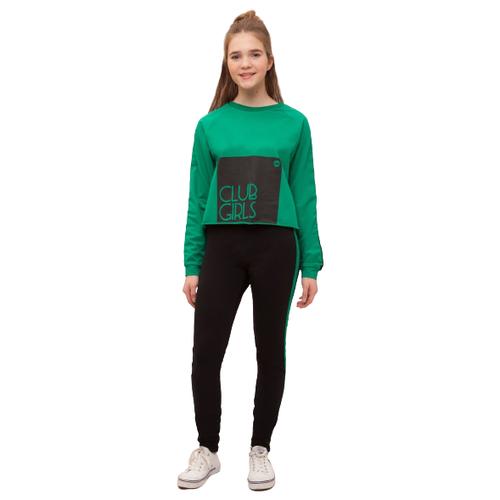 Купить Спортивный костюм Nota Bene размер 158, черный/зеленый, Спортивные костюмы
