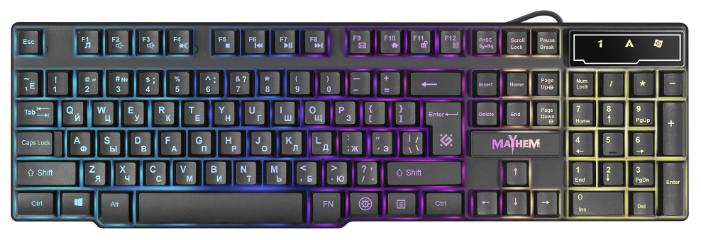 Клавиатура Defender Mayhem GK-360DL RU RGB Black USB