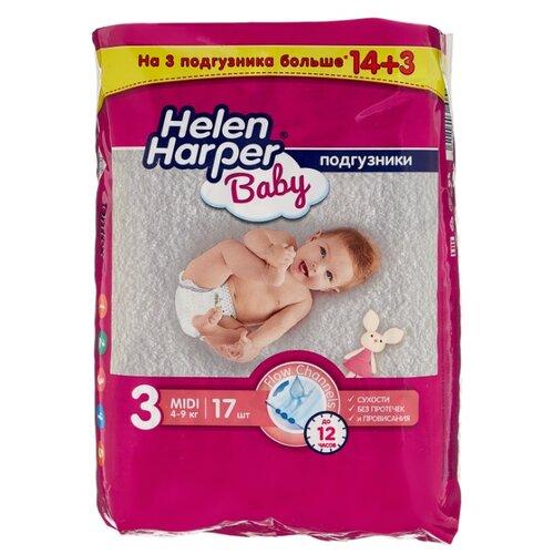 Helen Harper подгузники Baby 3 (4-9 кг) 14 шт. подгузники helen harper baby размер 4 maxi 7 14 кг 62 шт 5411416 029731