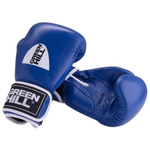 Боксерские перчатки Green hill Gym (BGG-2018) синий 10 oz