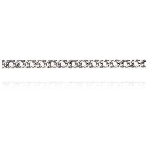 АДАМАС Цепь из белого золота плетения Ромб двойной ЦР240А2-А58, 50 см, 4.76 г