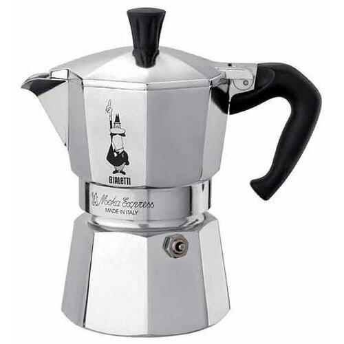 Гейзерная кофеварка Bialetti Moka Express 1164 (4 порции), серебристый