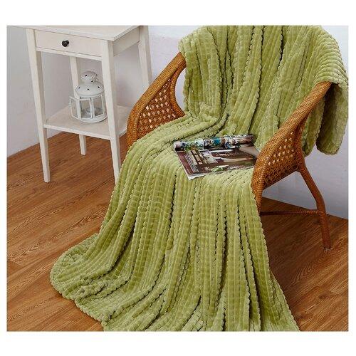 Плед Cleo Carre 180x200 см, зеленый халат домашний cleo cleo mp002xm0ycnr