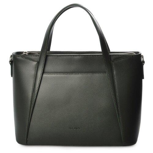 Сумка сэтчел Afina 424, натуральная кожа, темно-зеленый/сафьяно сумка женская fiato dream 1240 темно зеленый