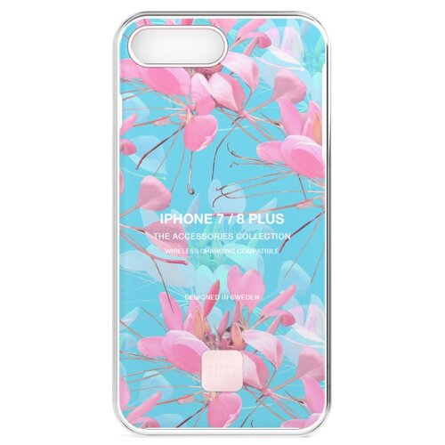 Чехол Happy Plugs 9302 + защитная пленка для Apple iPhone 7 Plus/iPhone 8 Plus botanica exotica пленка защитная 3mk iphone 8 ferya frosty blue