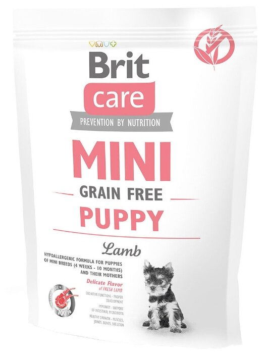 Корм для собак Brit Care Mini Grain Free Puppy Lamb