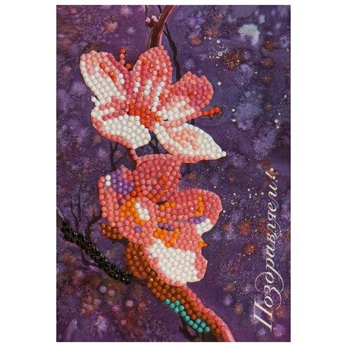 Купить Алмазная открытка Color Kit Поздравляем! 13х18 AZ011, Алмазная мозаика