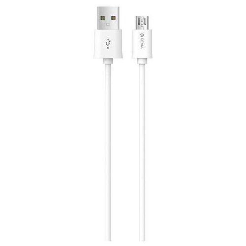 Купить Кабель Devia Smart USB - MicroUSB 1 м белый