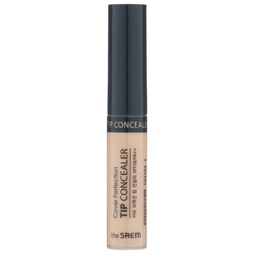 The Saem Консилер Cover Perfection Tip Concealer, оттенок 1.25 Light Beige the saem консилер стик cover perfection stick concealer оттенок 02 rich beige