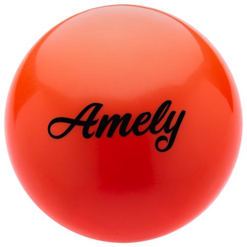 Мяч для художественной гимнастики Amely AGB-101 19 см оранжевый