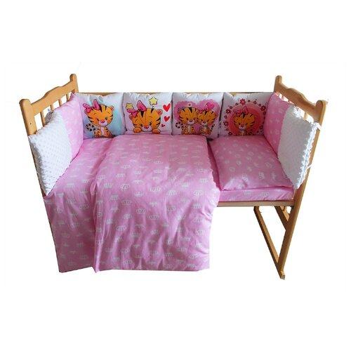 Valena комплект в кроватку Тигрята (4 предмета) розовый комплект в кроватку фея 0001015 2 розовый