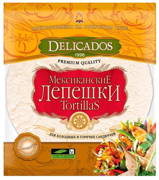 Лепешки мексиканские Tortillas Delicados пшеничные оригинальные для горячих и холодных сандвичей, 400 г
