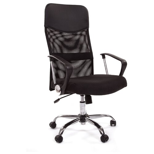 Компьютерное кресло Chairman 610 для руководителя, обивка: текстиль/искусственная кожа, цвет: черный компьютерное кресло chairman 434n для руководителя обивка текстиль цвет вельвет черный