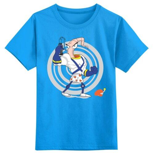 Футболка Printio размер 2XS, голубой