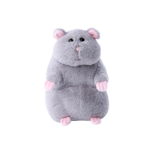 Купить Мягкая игрушка Lapkin Хомяк серый 20 см, Мягкие игрушки