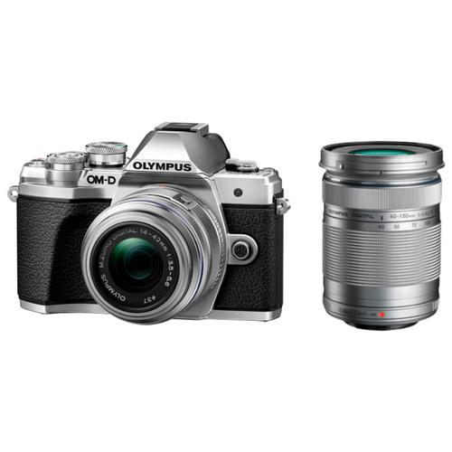 Фото - Фотоаппарат Olympus OM-D E-M10 Mark III Kit серебристый M.Zuiko Digital 14‑42mm F3.5‑5.6 II R + M.Zuiko Digital ED 40‑150mm F4‑5.6 R сумка фотоаппарат 40 32см текстиль ск2019 4