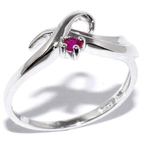 Silver WINGS Кольцо с рубинами из серебра 21gre1832-69-73, размер 17