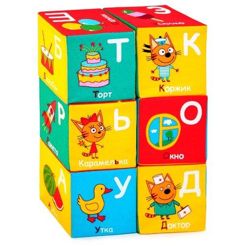 Купить Кубики Мякиши Три Кота Алфавит, Детские кубики