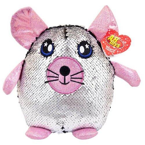 Купить Мягкая игрушка ABtoys Мышь с пайетками 20 см, Мягкие игрушки
