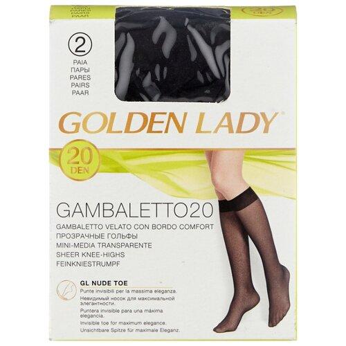 Капроновые гольфы Golden Lady Gambaletto 20 Den, 2 пары, размер 0 (one size), nero