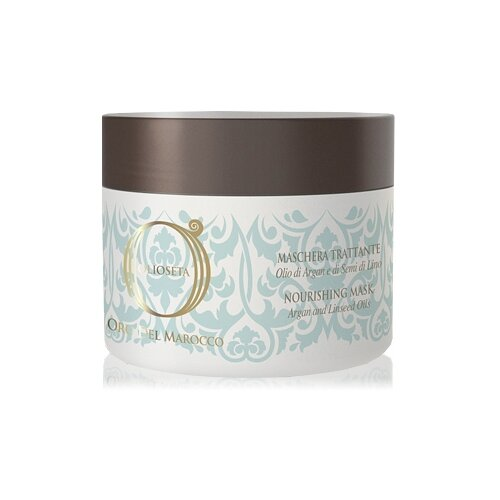 Barex Olioseta Oro del Marocco Питательная маска с маслом арганы и маслом семян льна для волос, 250 мл