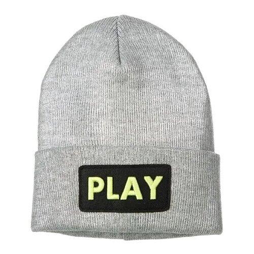 Купить Шапка-бини playToday размер 54, серый, Головные уборы