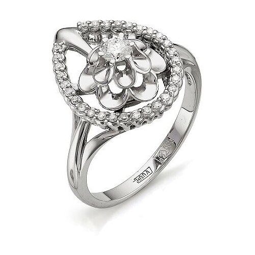 Мастер Бриллиант Кольцо Цветок с 31 бриллиантом из красного золота 1-105-500, размер 20