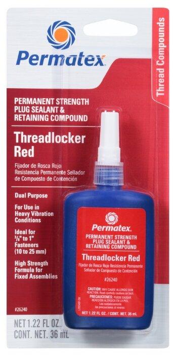 Фиксатор резьбовых соединений сильной фиксации неразъемный PERMATEX Threadlocker Red 19962/26240